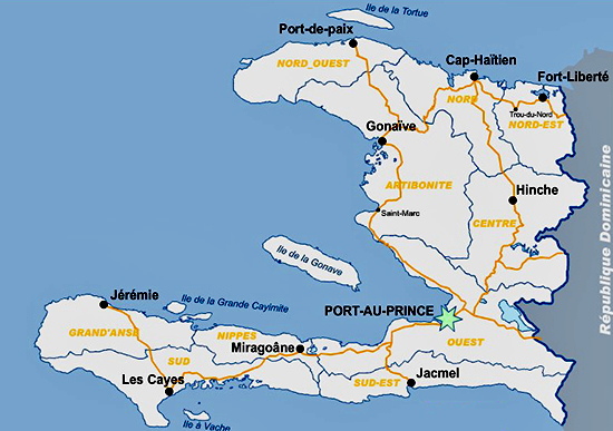 Haiti Historic Places And Locations - Haitian map