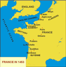 Map Of France Over Time.Hundred Years War 1337 1453