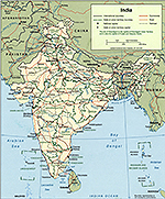Map of India 2001