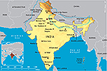 Map of India 2011