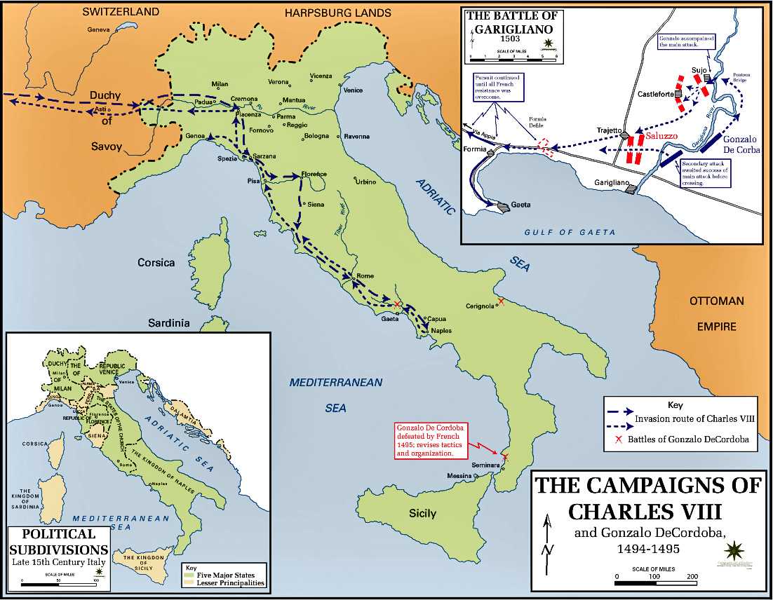 Map of Italy 1494