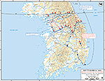Map of the Korean War: South Korea. Second Invasion of South Korea, Situation January 24, 1951, Operations Since December 31, 1950.