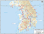 Map of the Korean War: U.N. Delay, Withdrawal and Defense, Operations June 25 - August 5, 1950.