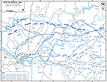 Map of the Korean War: South Korea. Operation Ripper, Situation March 6-31, 1951.