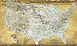 History map of the Lewis and Clark Expedition 1804-1806. All Things Lewis and Clark today.