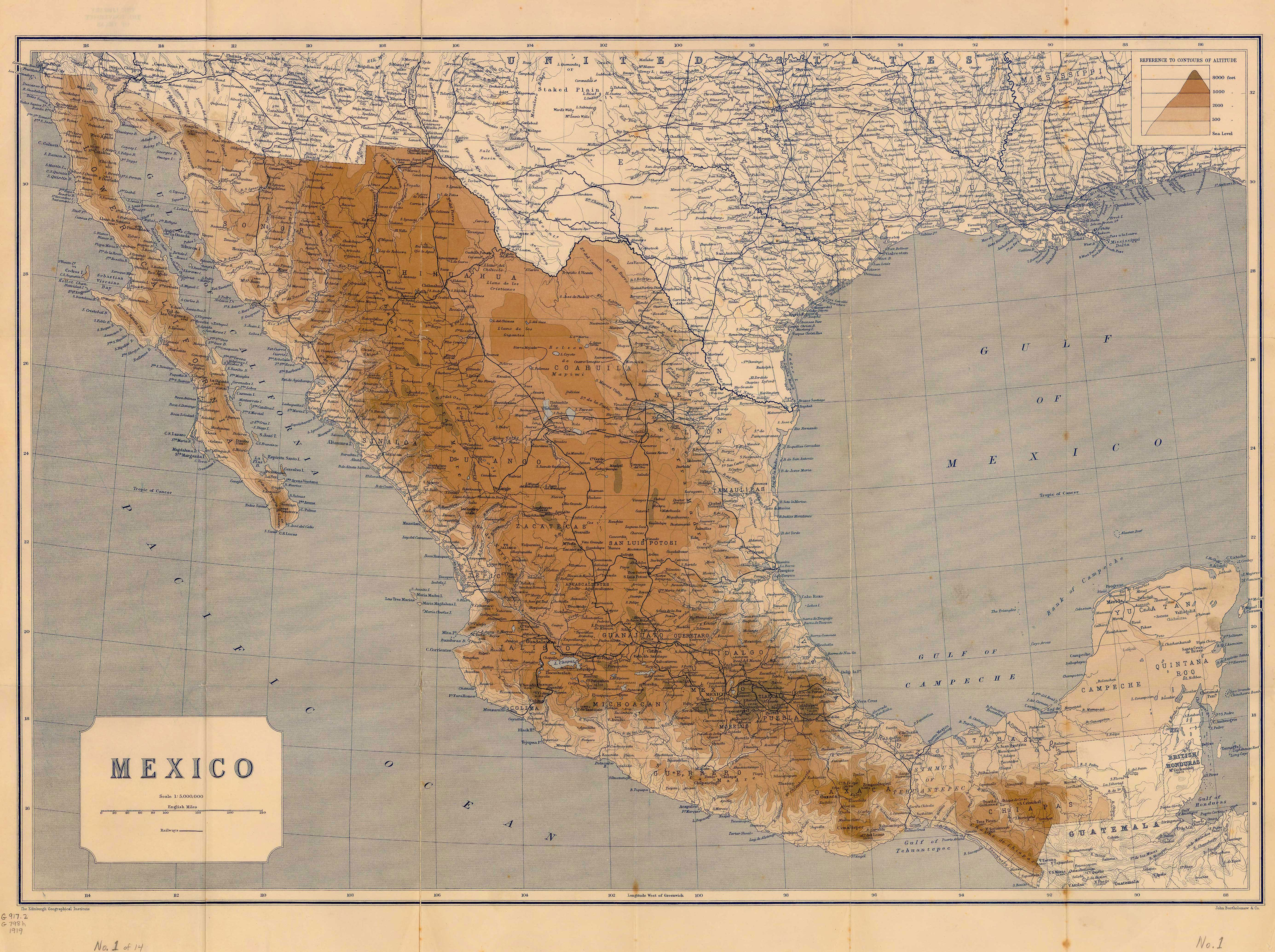 map of mexico 1919