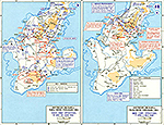 Map of World War II: The Pacific. Southern Okinawa April 9 - June 30, 1945.