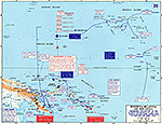 Map of World War II: The Pacific. Cartwheel, The Seizure of the Gilberts and