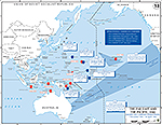Map of World War II: The Far East and the Pacific. American Carrier Operations December 7, 1941 - April 18, 1942.