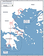 Peloponnesian War 431-404 BC - Map