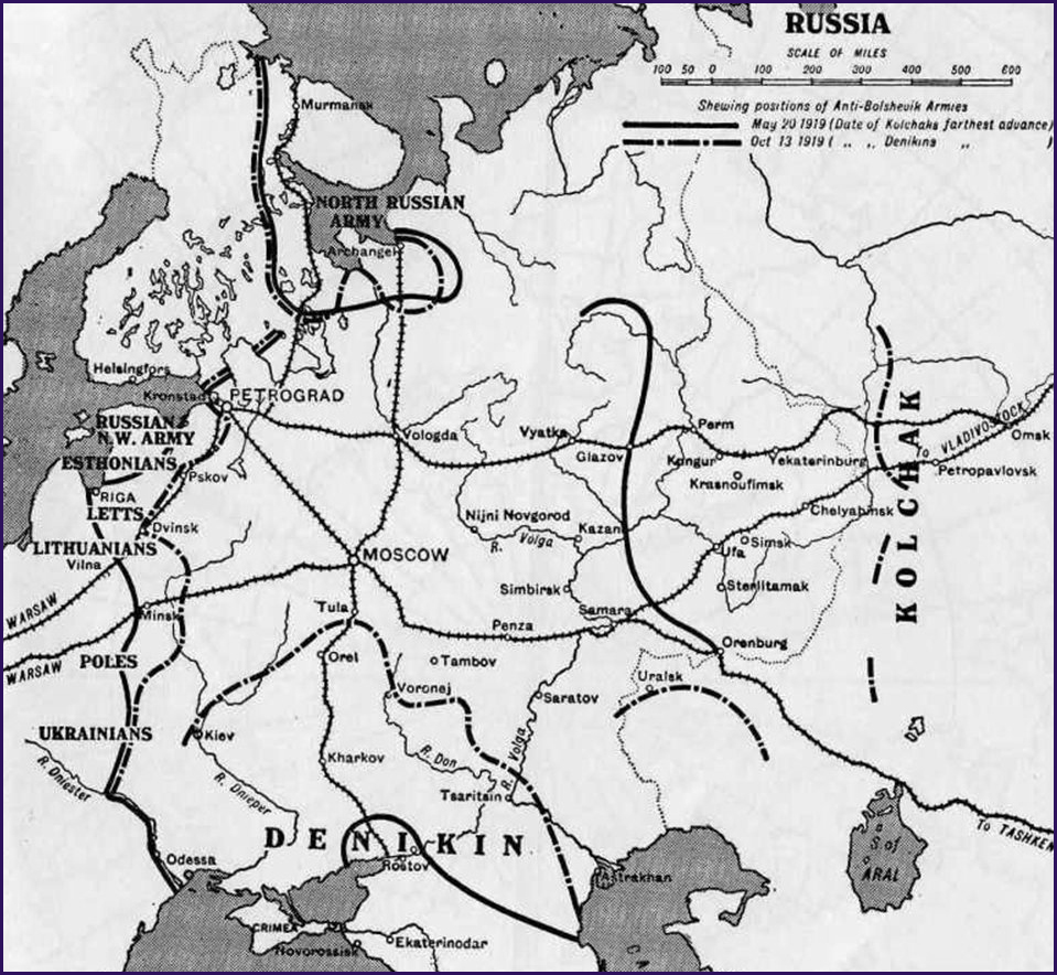 Map of Russia during the War