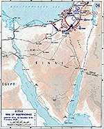 History Map of the Sinai Peninsula: Israel's War of Independence, Operation AYIN, December 22, 1948 - January 7, 1949.