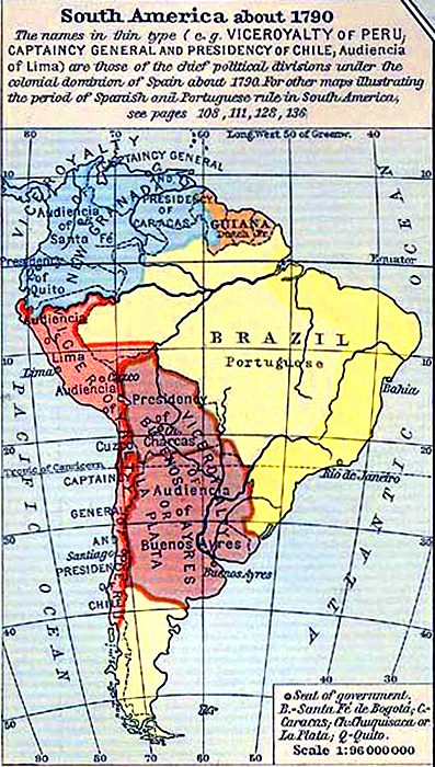 Map Of Colonial Latin America
