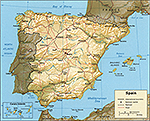 Map of Spain 1982