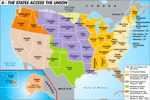 The States Access the Union - Map