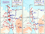 History Map of the Suez Canal Area. Campaign in Sinai, Egyptian Crossing and Attack, Israeli Counter-Attacks, October 1973.