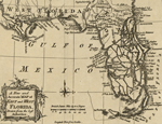 Map of the Floridas: East and West Florida 1765