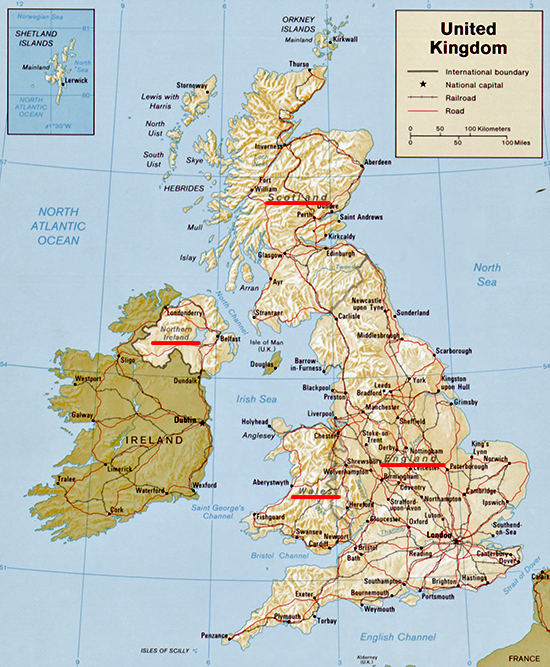 Kent United Kingdom  City pictures : Map of the United Kingdom: England, Wales, Scotland, Northern Ireland