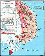 History Map of the Vietnam War. South Vietnam, Enemy Situation, Early 1964.