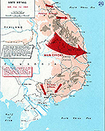 History Map of the Vietnam War. South Vietnam, NVA Plan for 1965.