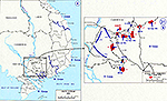 History Map of the Vietnam War. South Vietnam, Attack into Cambodia, May - June 1970.