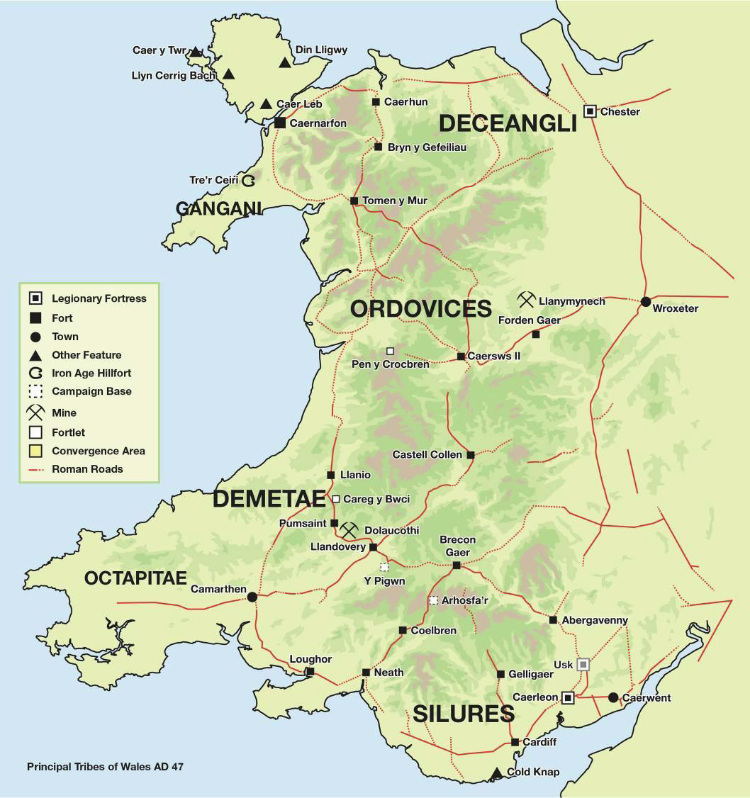 Map Of England 450 Ad.History Map Archive 100 Bc To Ad 500