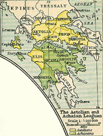 The Aetolian and Achaean Leagues at the time of the Macedonian Empire 336 BC - 323 BC