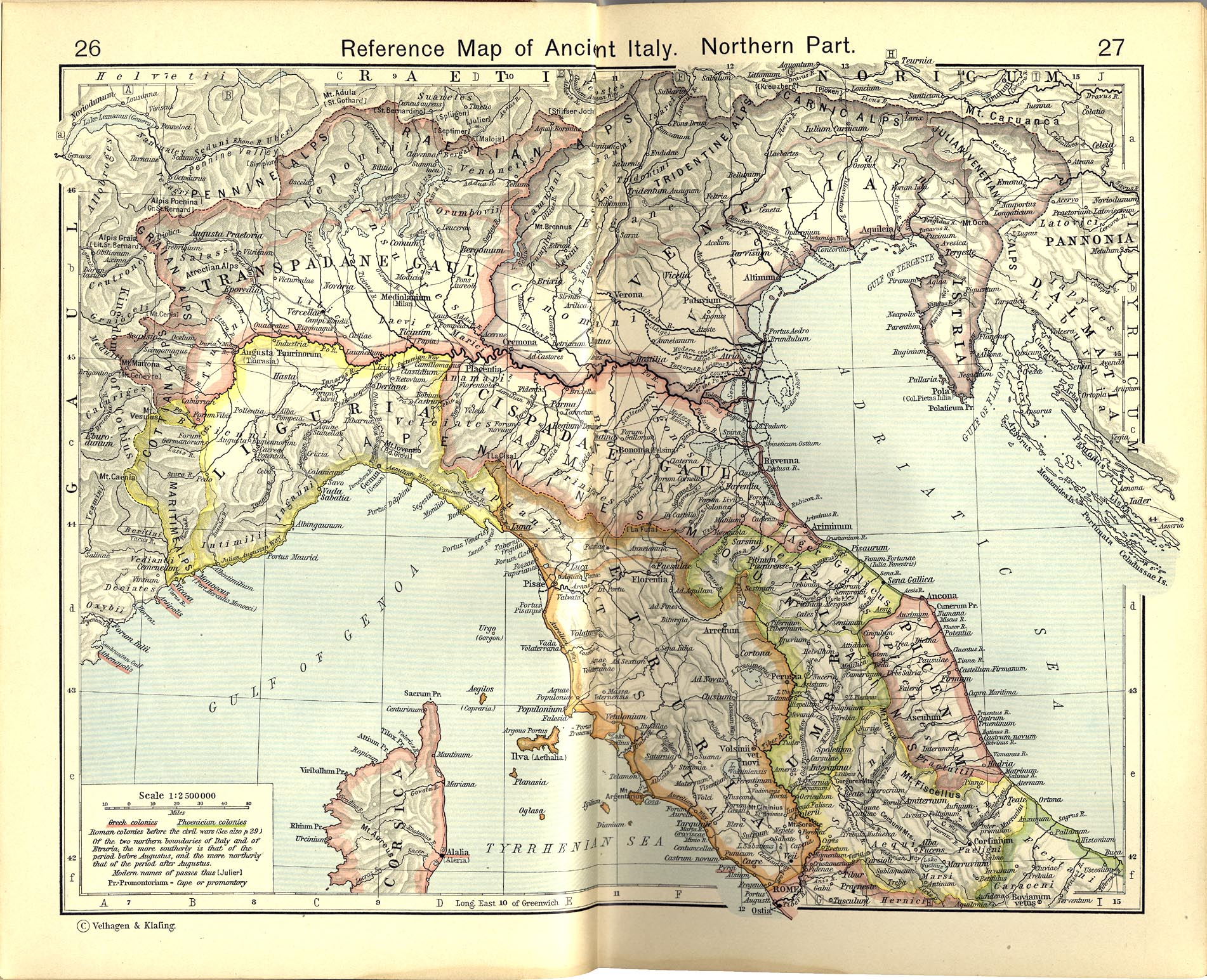 Map Of Ancient Italy North