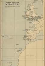 Map of the North East Atlantic 16th Century