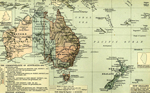 Map of Australia and New Zealand 1788-1911