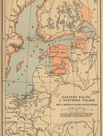 Map of the Baltic 1560 - 1661