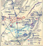 Plan of the Battle of Waterloo, June 18, 1815.