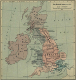 Map of the British Isles about 802.