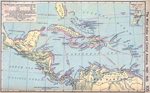 The West Indies and Central America, 1492-1525. Inset: Watling's Island.