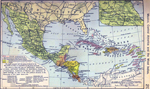 Mexico, Central America and the West Indies. Inset: Central Mexico.