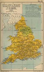 England and Wales: Parliamentary Representation in 1832 Before the Reform Bill
