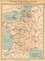 English Campaigns in France in the Reign of Edward III, 1327 - 1377.
