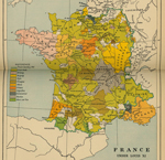 Map of France 1461