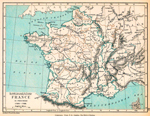 France in Provinces, showing the Customs Frontiers, 1769 - 1789