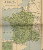 Map of France - Religious Wars 1562