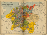 Map of Germany in 1519