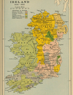 Map of Ireland 1558 - 1652