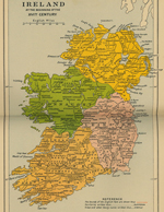 Map of Ireland 16th Century
