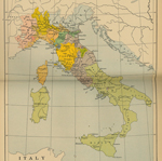 Map of Italy 16th Century