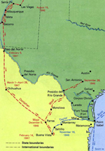 Map of the Mexican War
