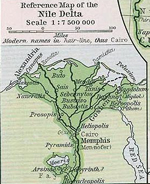 Nile Delta about 1450 BC