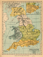 Roman Britain Circa 400. Inset: Kent at the coming of the Saxons in 525