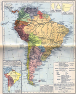 South America. Inset: South America about 1790.