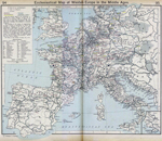 Ecclesiastical Map of Western Europe in the Middle Ages. Inset: Vicinity of Naples.