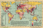 World Map - Population Density 1918
